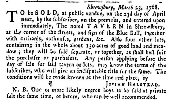 Mar 31 - Pennsylvania Gazette Slavery 1