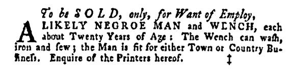 Mar 31 - Pennsylvania Gazette Supplement Slavery 2