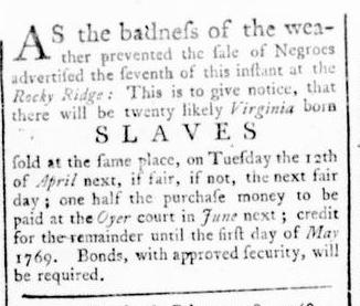 Mar 31 - Virginia Gazette Rind Slavery 7