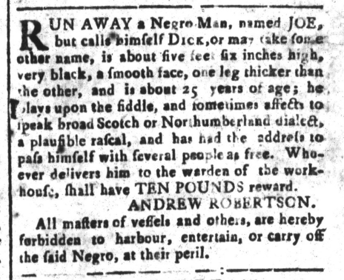 Mar 4 - South-Carolina and American General Gazette Slavery 14