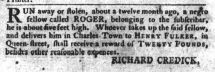 Mar 8 - South-Carolina Gazette and Country Journal Slavery 3