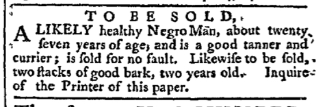 Apr 11 - Pennsylvania Chronicle Slavery 1