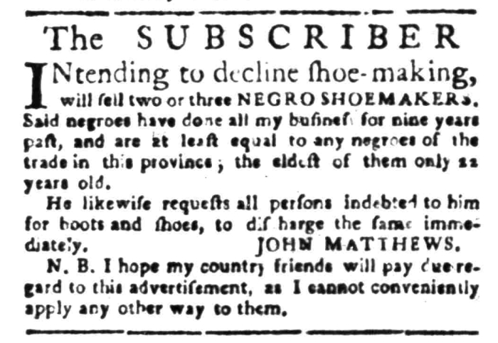 Apr 11 - South Carolina Gazette Slavery 2