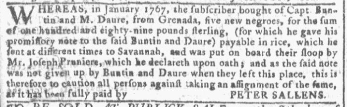 Apr 13 - Georgia Gazette Slavery 3