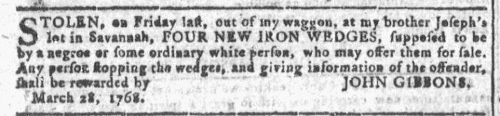 Apr 13 - Georgia Gazette Slavery 4