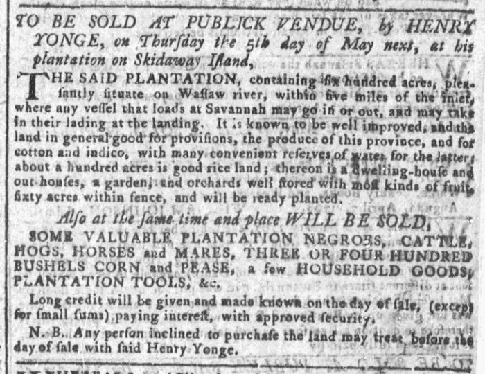 Apr 13 - Georgia Gazette Slavery 5