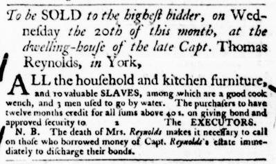 Apr 14 - Virginia Gazette Purdie and Dixon Slavery 2