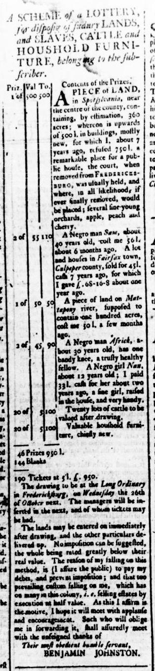 Apr 14 - Virginia Gazette Rind Supplement Slavery 4