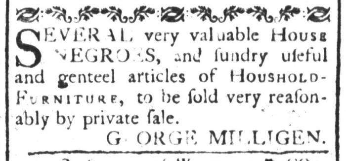 Apr 15 - South-Carolina and American General Gazette Slavery 1
