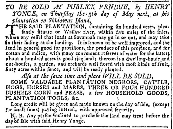 Apr 20 - Georgia Gazette Slavery 2