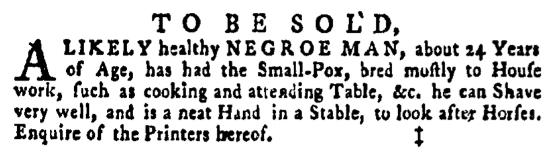 Apr 21 - Pennsylvania Gazette Supplement Slavery 2