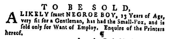Apr 21 - Pennsylvania Gazette Supplement Slavery 5