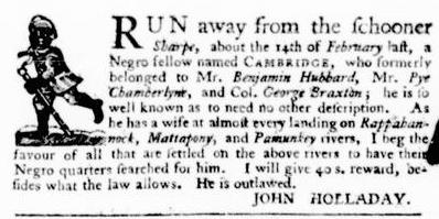 Apr 21 - Virginia Gazette Purdie and Dixon Slavery 2
