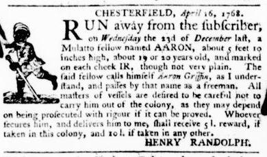 Apr 21 - Virginia Gazette Purdie and Dixon Slavery 3