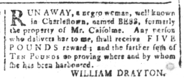 Apr 22 - South-Carolina and American General Gazette Slavery 3