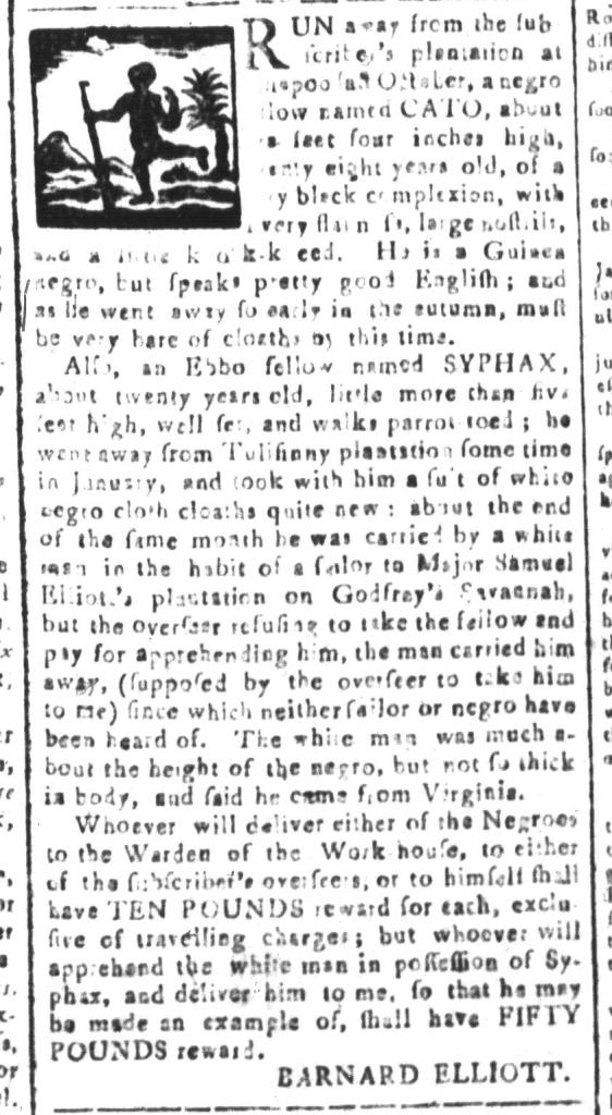Apr 22 - South-Carolina and American General Gazette Slavery 4
