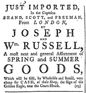 Apr 23 - 4:23:1768 Providence Gazette