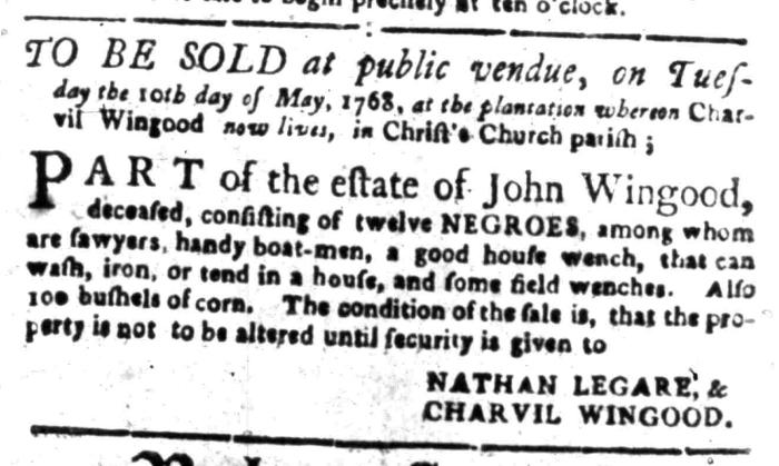 Apr 25 - South Carolina Gazette Slavery 6