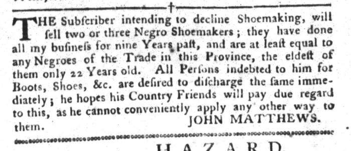 Apr 26 - South-Carolina Gazette and Country Journal Slavery 12