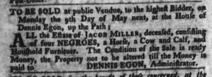 Apr 26 - South-Carolina Gazette and Country Journal Slavery 6
