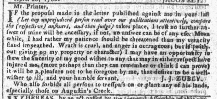 Apr 27 - 4:27:1768 Georgia Gazette