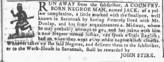 Apr 27 - Georgia Gazette Slavery 3