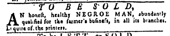 Apr 28 - Pennsylvania Gazette Slavery 2