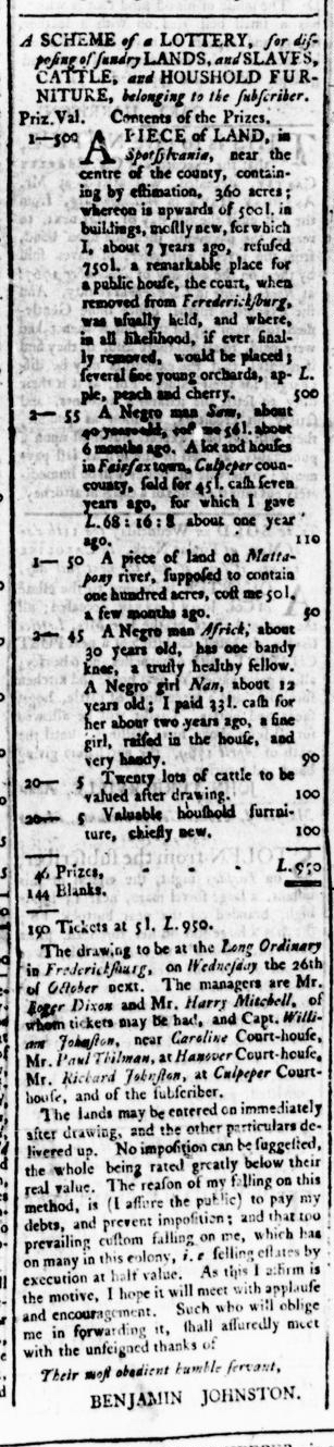 Apr 28 - Virginia Gazette Rind Slavery 2