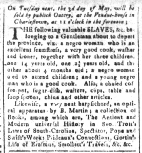 Apr 29 - South-Carolina and American General Gazette Slavery 2