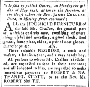 Apr 29 - South-Carolina and American General Gazette Slavery 3
