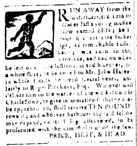 Apr 29 - South-Carolina and American General Gazette Slavery 8