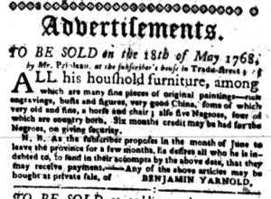 May 2 - South-Carolina Gazette Slavery 6