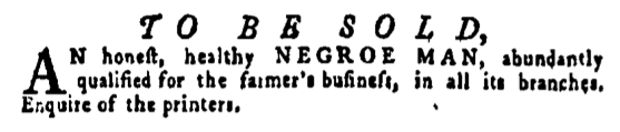 May 5 - Pennsylvania Gazette Supplement Slavery 1