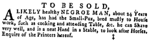 May 5 - Pennsylvania Gazette Supplement Slavery 6