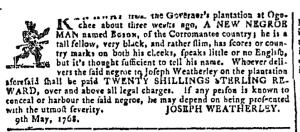 Jun 1 - Georgia Gazette Slavery 4