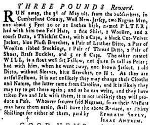 Jun 2 - Pennsylvania Gazette Supplement Slavery 2