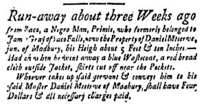 Jun 3 - New-Hampshire Gazette Slavery 1