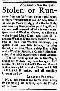 Jun 3 - New-London Gazette Slavery 1