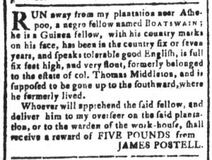 Jun 3 - South-Carolina and American General Gazette Slavery 12