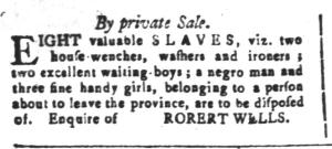Jun 3 - South-Carolina and American General Gazette Slavery 14