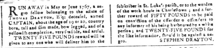 Jun 3 - South-Carolina and American General Gazette Slavery 15