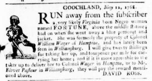 May 12 - Virginia Gazette Purdie and Dixon Slavery 2