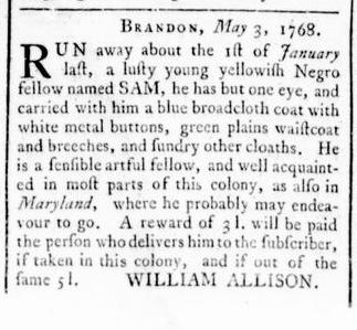May 12 - Virginia Gazette Rind Slavery 5