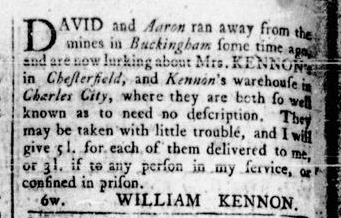 May 12 - Virginia Gazette Rind Slavery 7