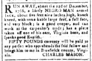 May 13 - South-Carolina and American General Gazette Slavery 1