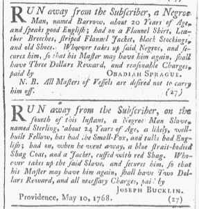 May 14 - 5:14:1768 Providence Gazette