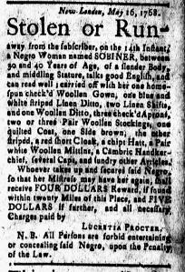 May 20 - New-London Gazette Slavery 1