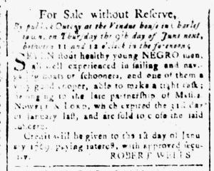 May 20 - South-Carolina and American General Gazette Slavery 1