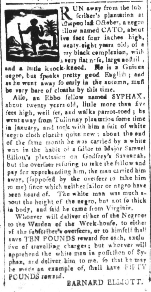 May 20 - South-Carolina and American General Gazette Slavery 7