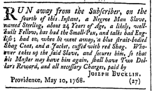May 21 - Providence Gazette Slavery 2